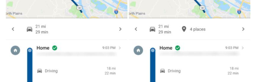 Google Maps Timeline Zeitachse