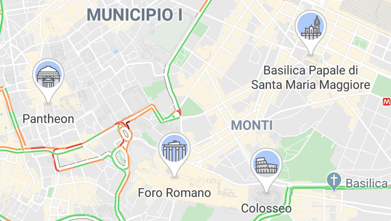 google maps wahrzeichen rom