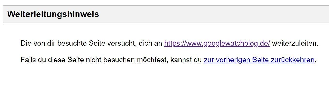 google maps weiterleitung