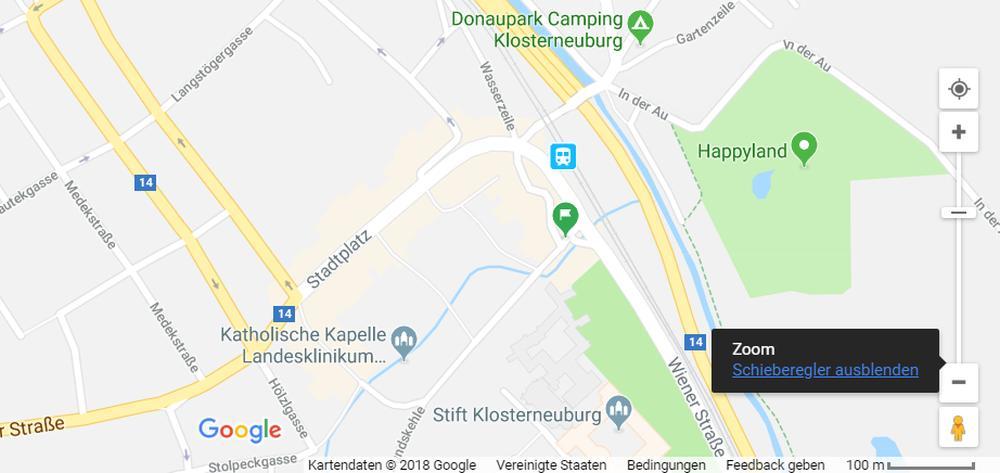 google maps zoom