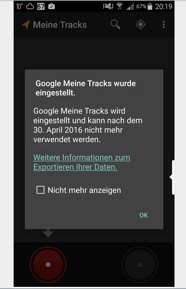 google meine tracks