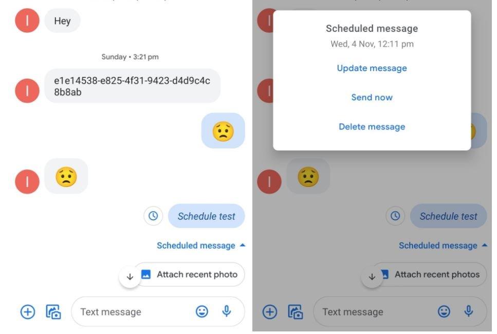 google messages geplante nachrichten 2