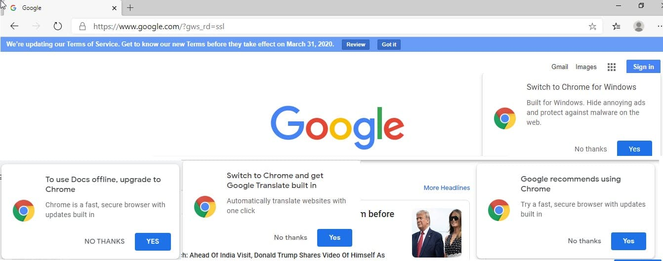 google microsoft chromium edge