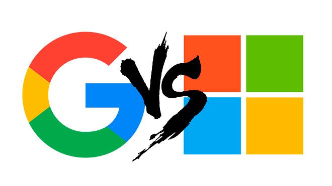 google microsoft symbolbild