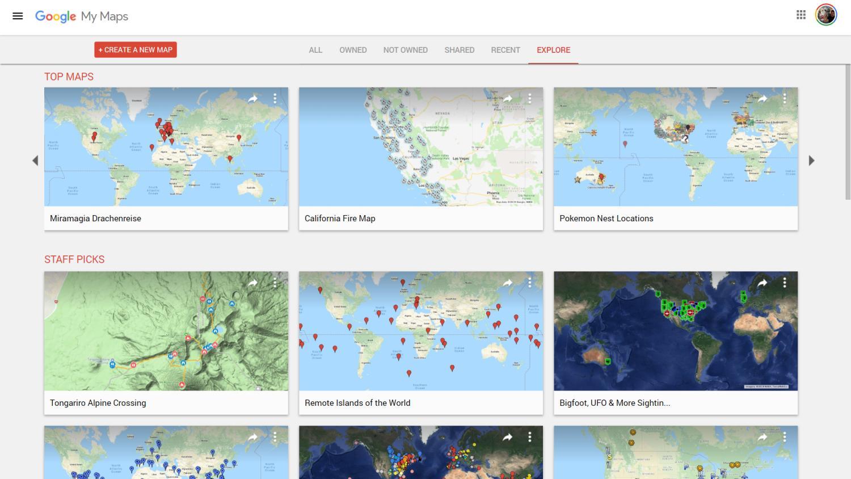 google my maps folder