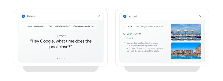 google nest hub hotel