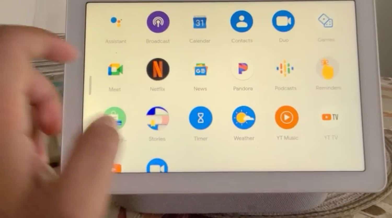 google nest hub max app launcher