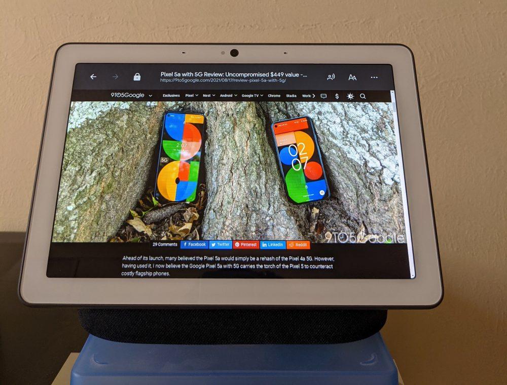 google nest hub max browser vorlesen 1