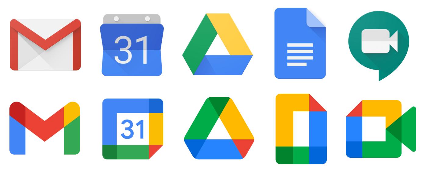 google new icons vergleich