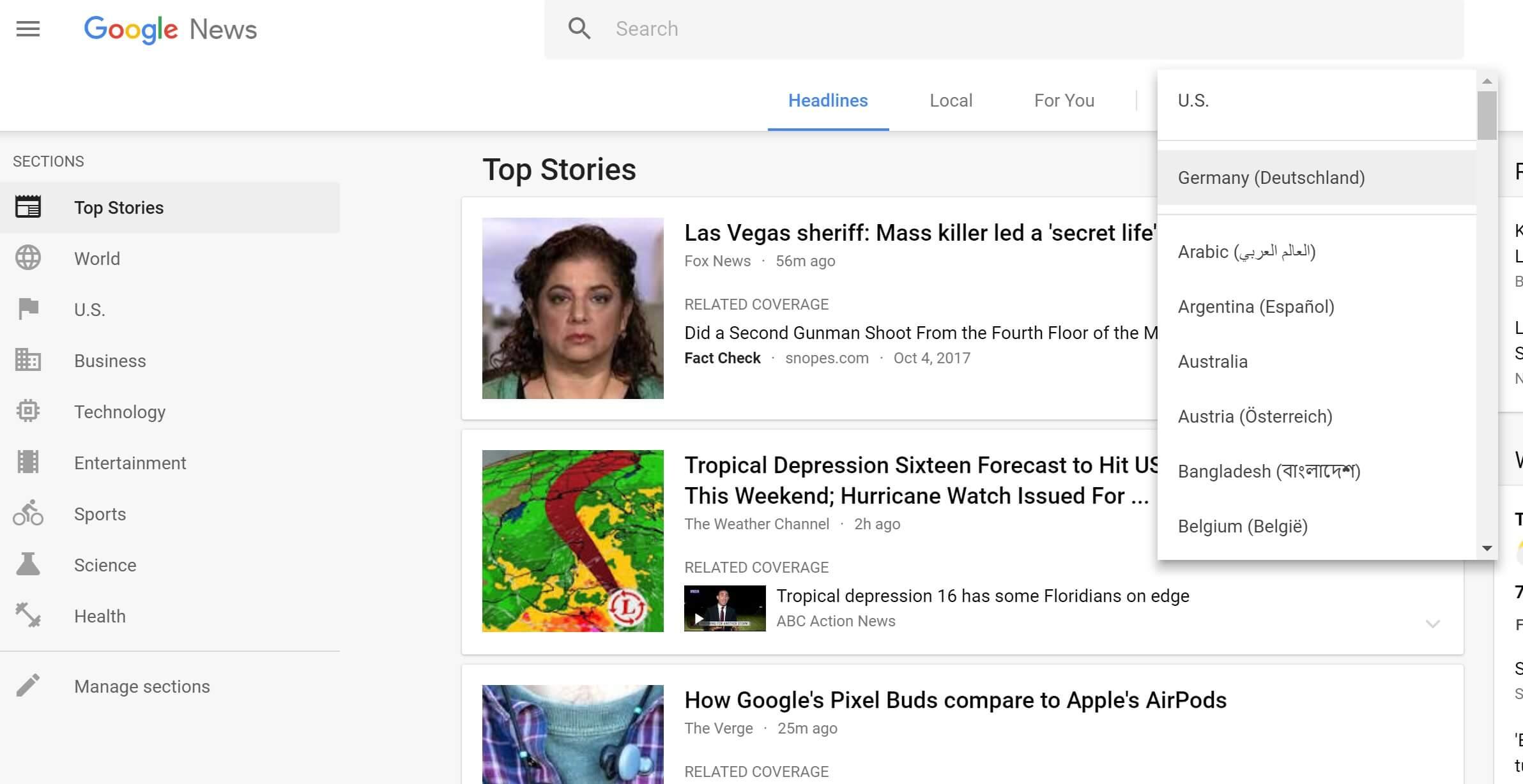 google news edition