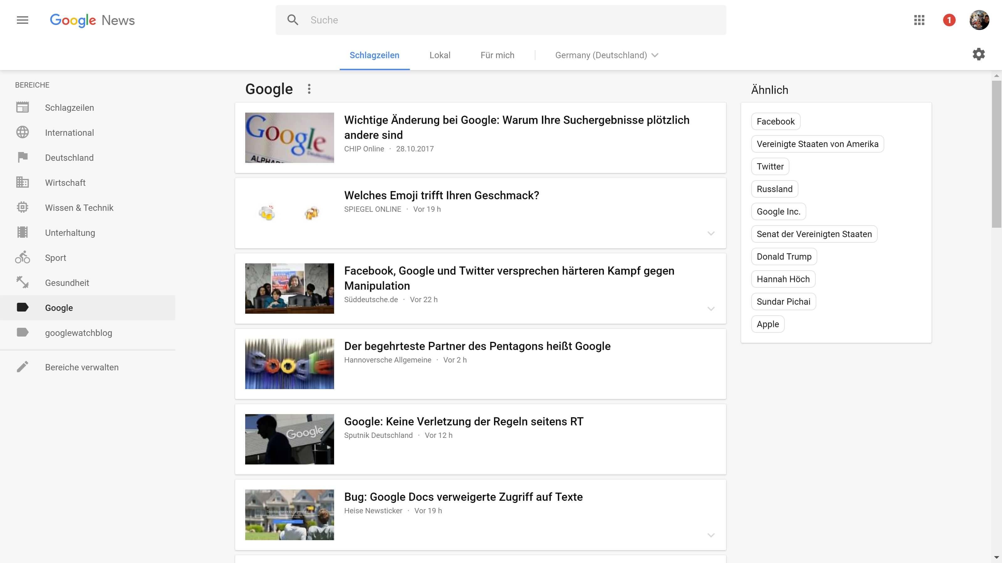 google news google