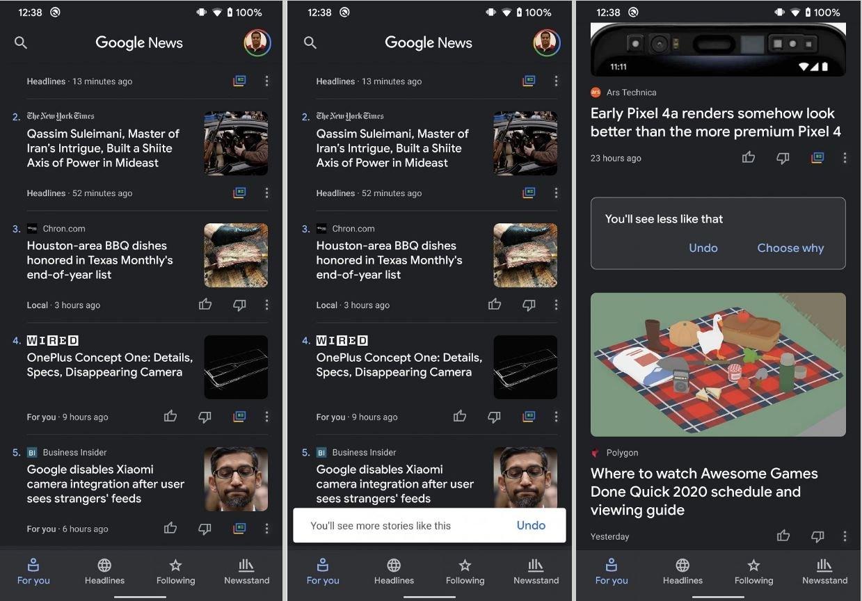 google news vote