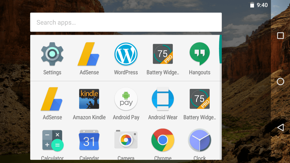 google now app drawer