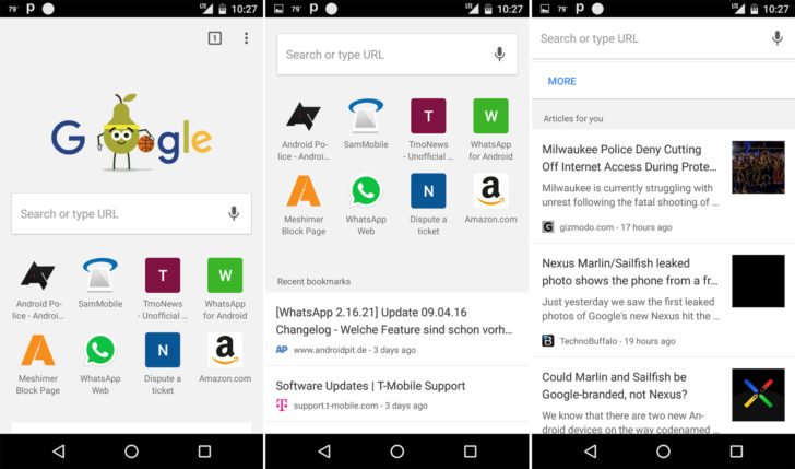google now chrome for android