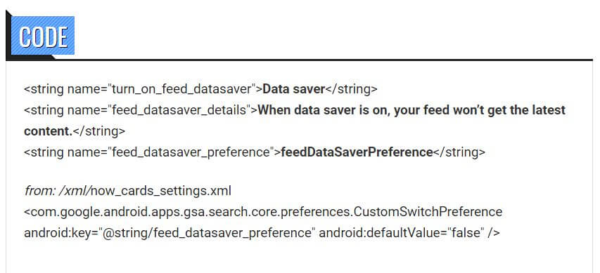 google now data saver