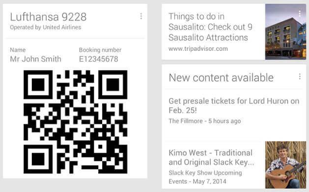 google now ticket