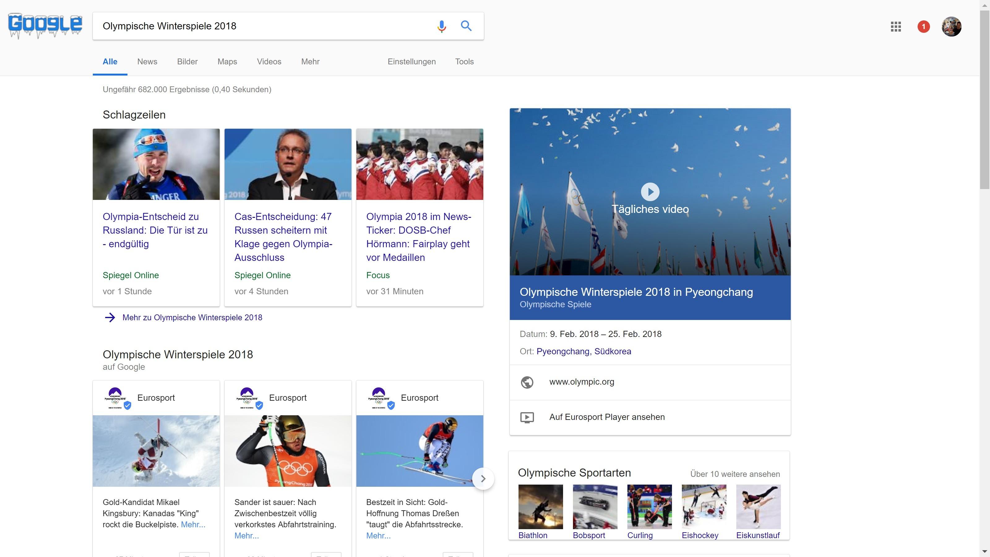google olympische winterspiele 2018