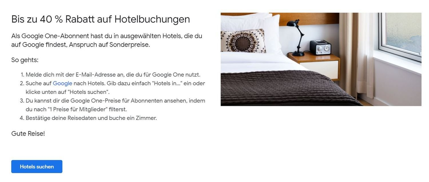 google one hotelrabatt