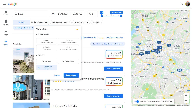 google one hotelsuche rabatt