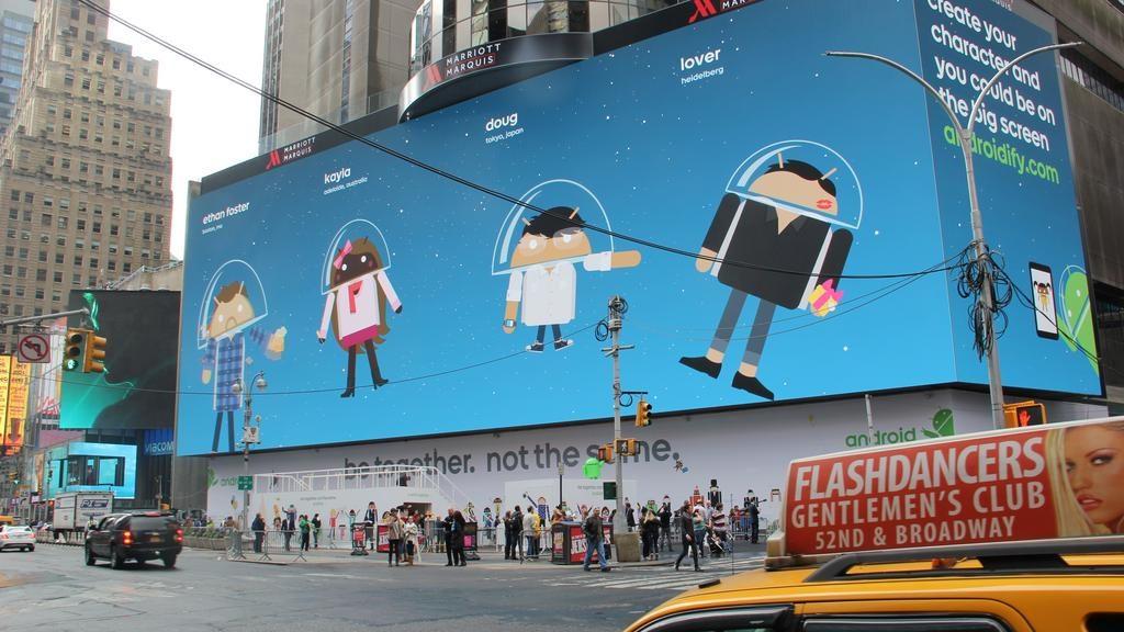 google outdoor billboard