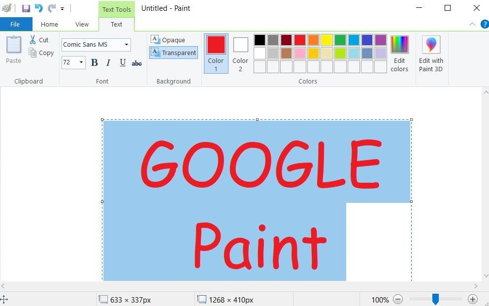 google paint