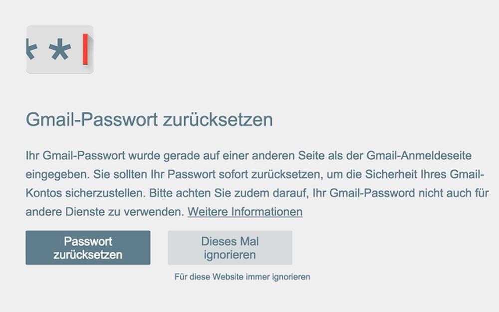 google passwort