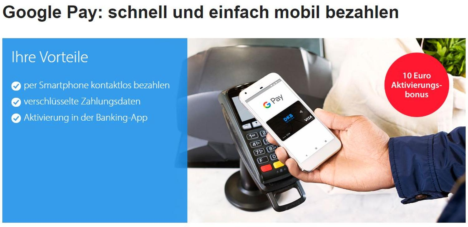 google pay dkb bank aktion