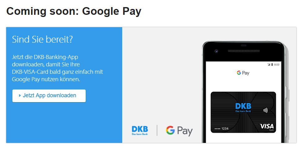google pay dkb bank