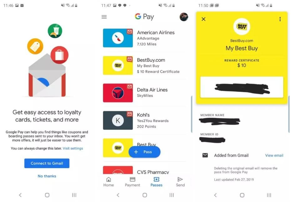 google pay gmail tickets