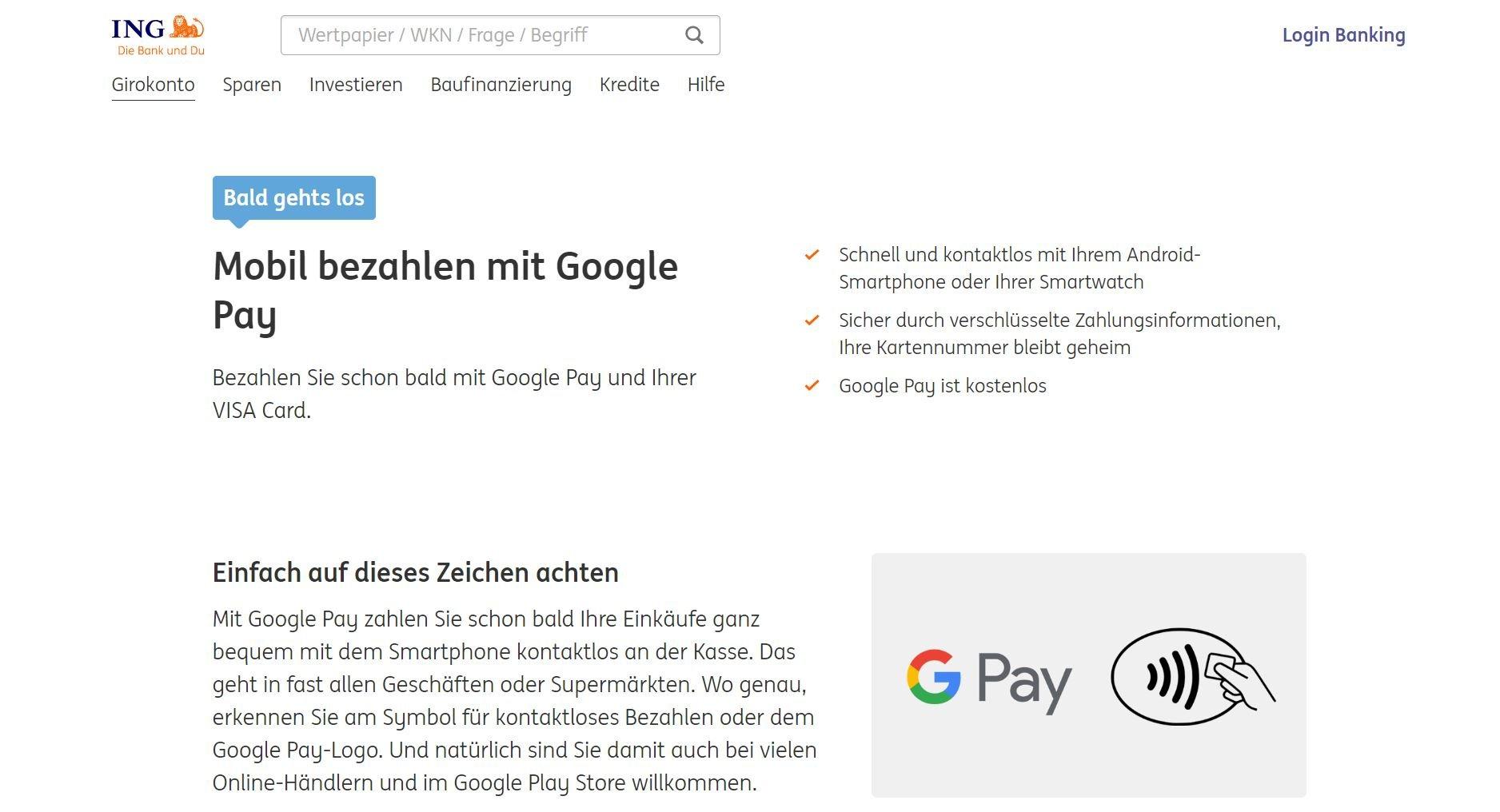 google pay ing