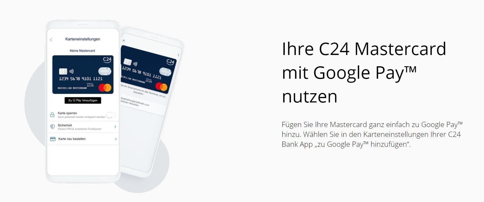 google pay mastercard c24 bank