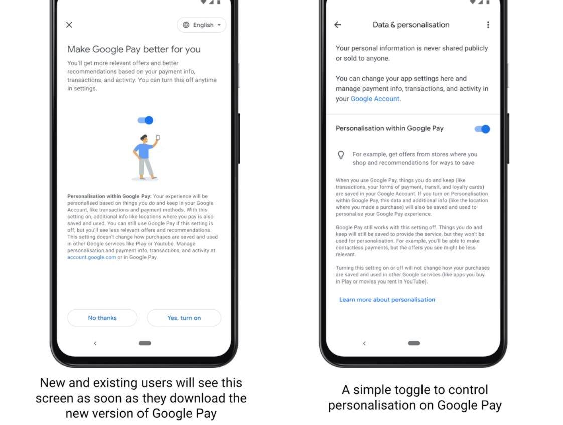 google pay new app werbung daten