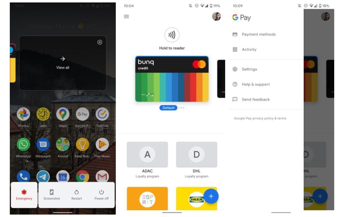 google pay new design karten