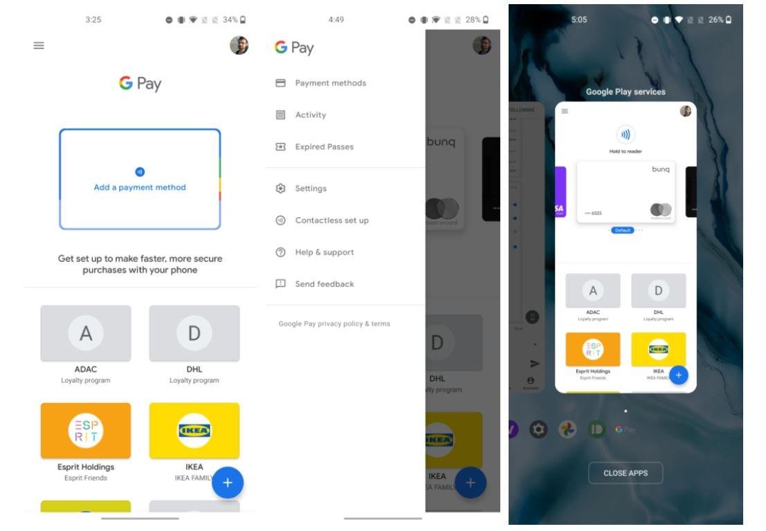 google pay new design screenshots 1