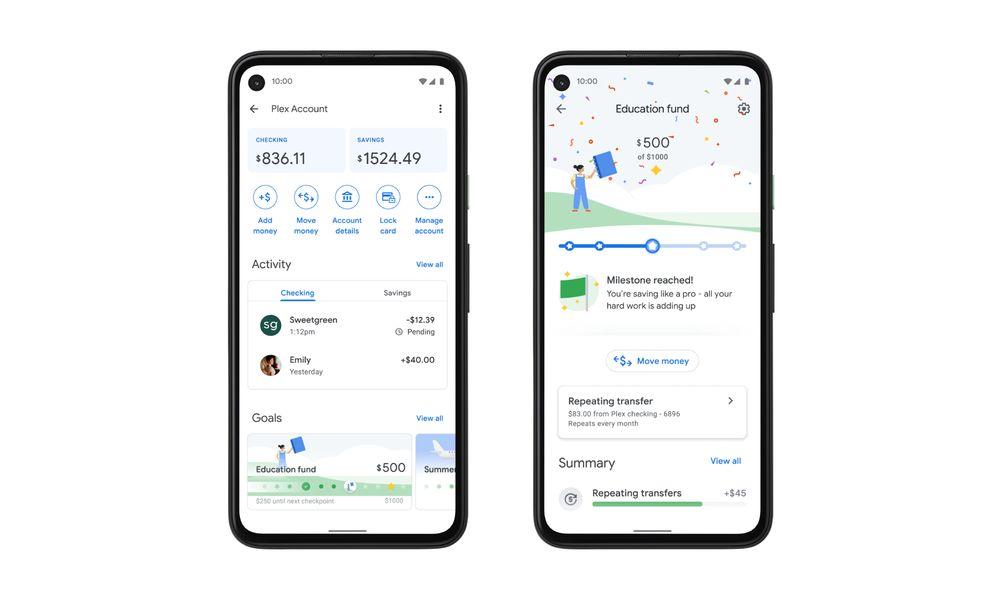 google pay plex banking