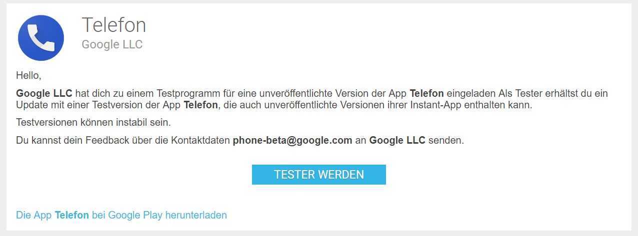 google phone beta