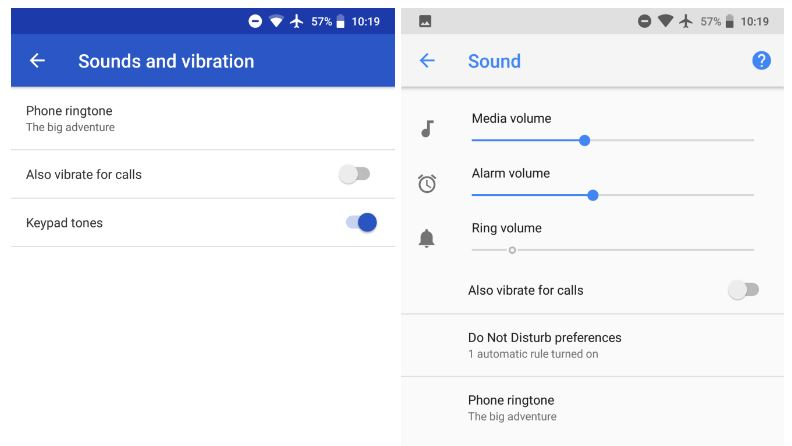 google phone sounds