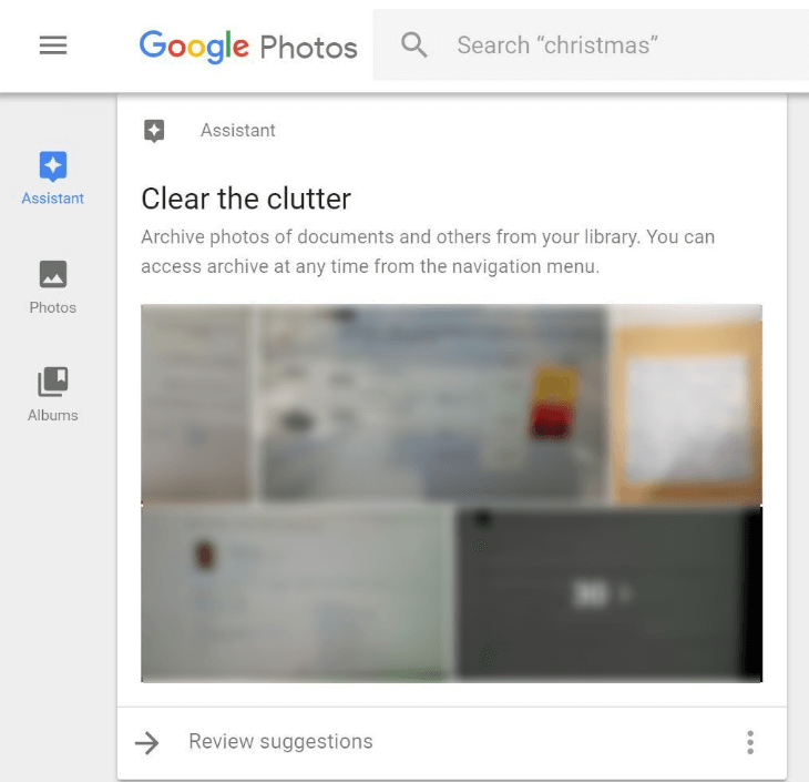google photos clear clutter_cen