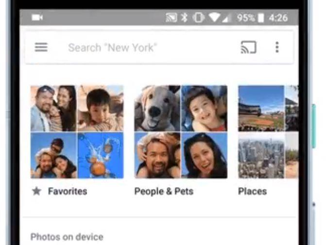 google photos favoriten