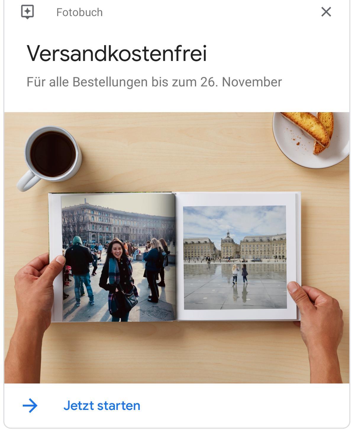 google photos fotobuch gratis versand