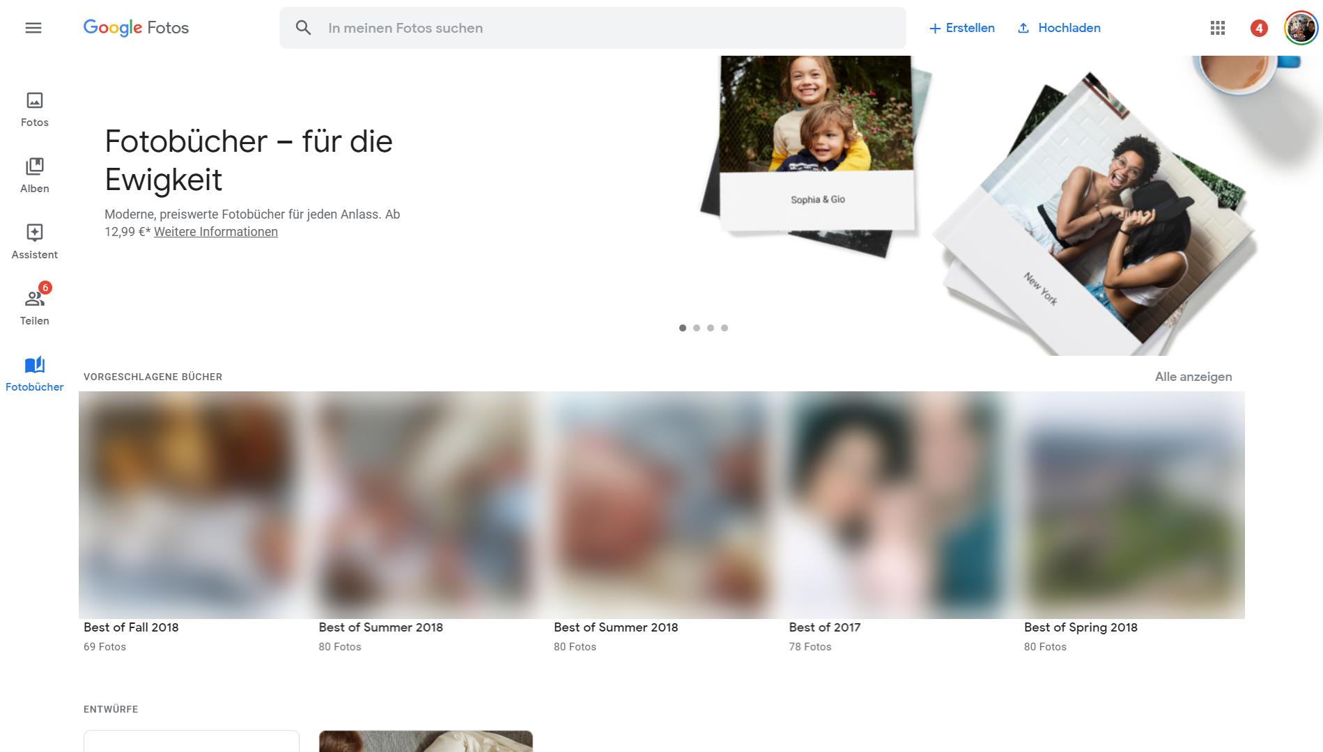 google photos fotobuch