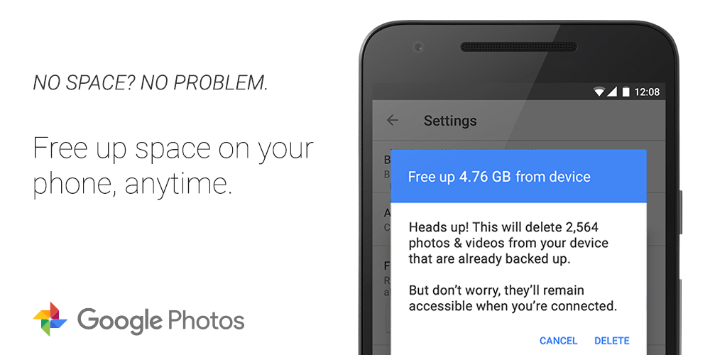 google photos free up space