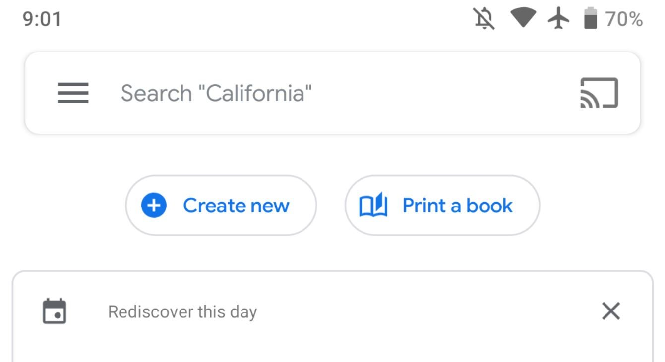 google photos new buttons
