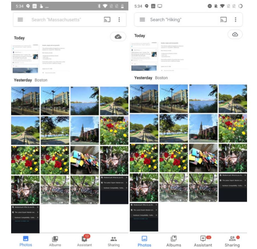 google photos new design