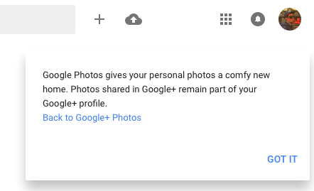google photos redirect