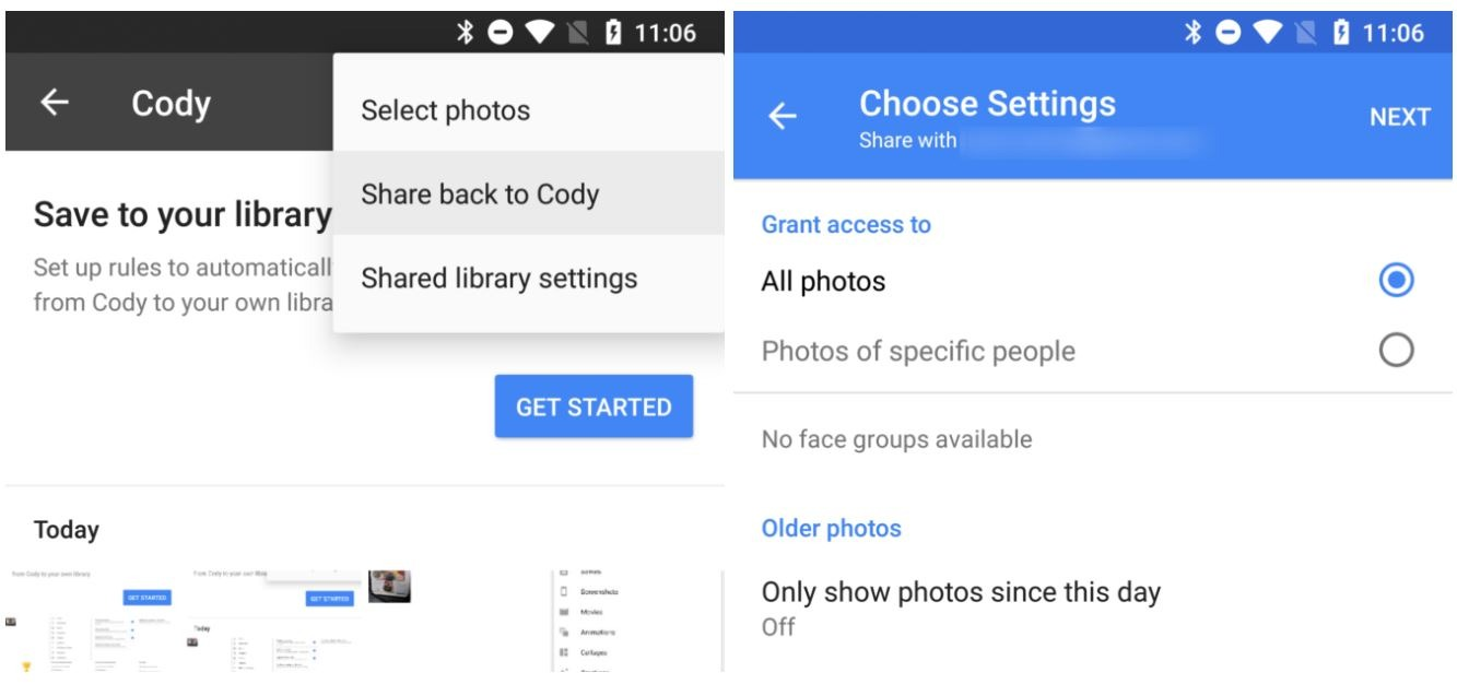 google photos share