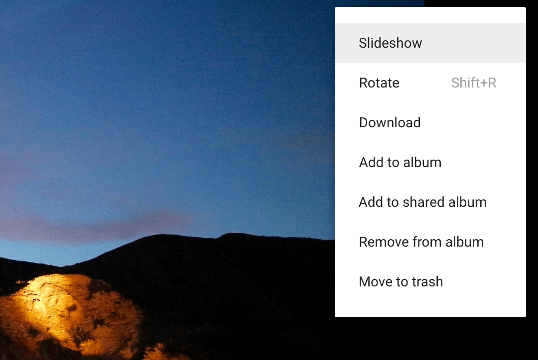 google photos slideshow
