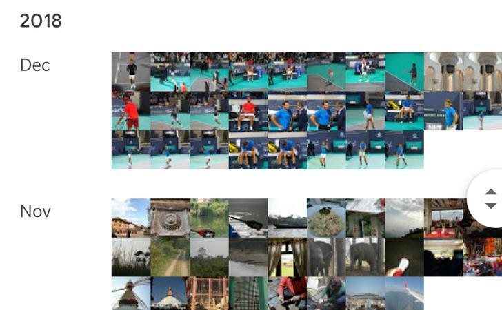 google photos year view