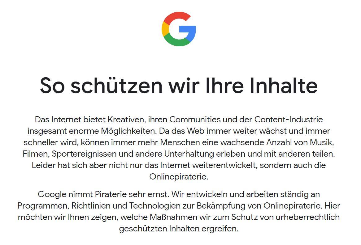 google piraterie