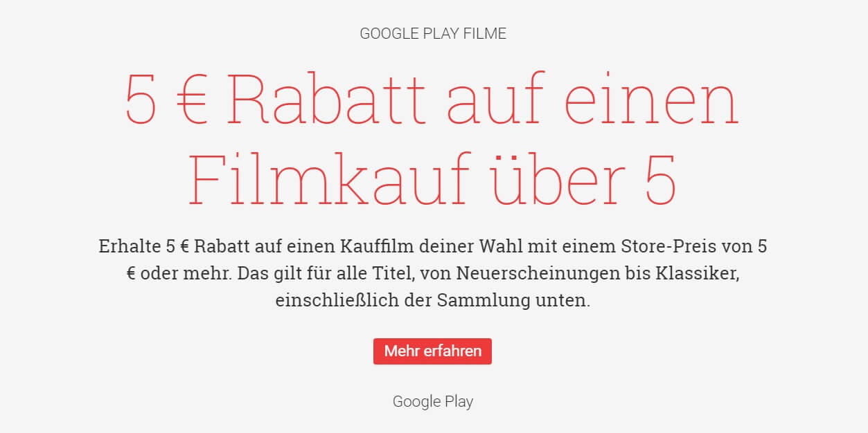 google play 5 euro film